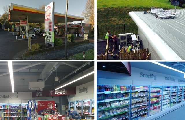 Tankstelle in Burney (UK)